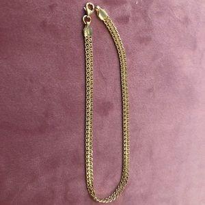 Solid 14kt Gold Bracelet/ anklet